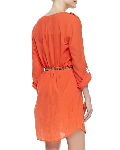 Rathana Cotton V-Neck Dress