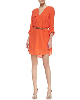 Joie Rathana Cotton V-Neck Dress