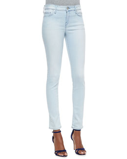 Joie Skinny-Leg Cropped Denim Jeans, Starlight
