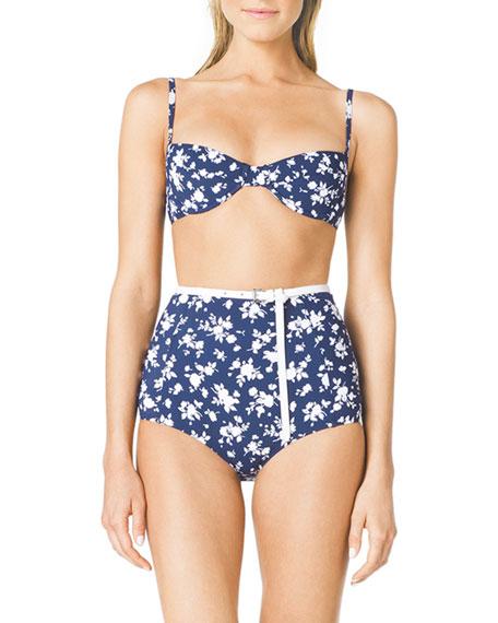 Floral-Print Bra-Top Bikini