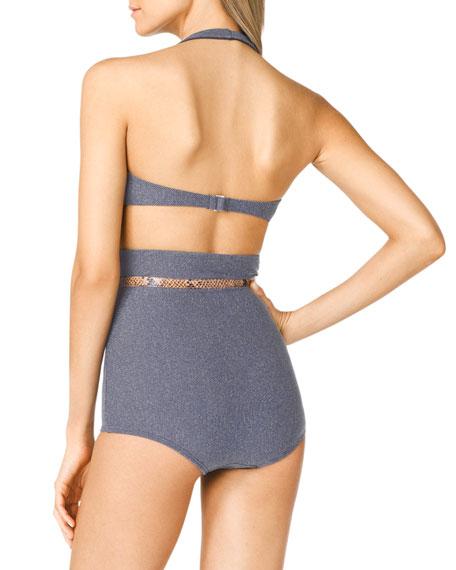 High-Waist Bra-Top Bikini