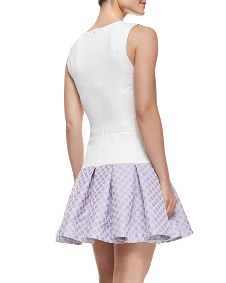 Audrey Sleeveless Flounce Skirt Cocktail Dress
