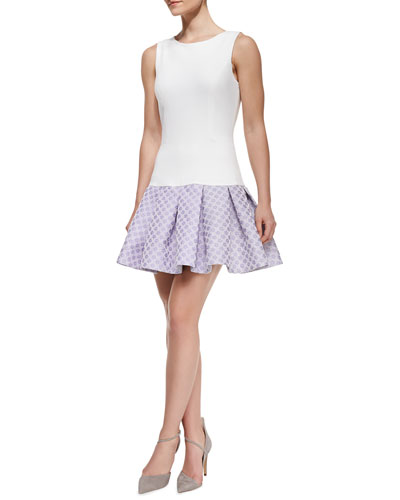 ERIN erin fetherston Audrey Sleeveless Flounce Skirt Cocktail Dress