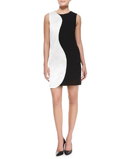 Raoul Willow Two-Tone Shift Dress