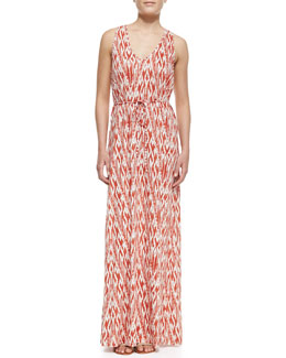 Soft Joie Emilia Ikat-Print Maxi Dress