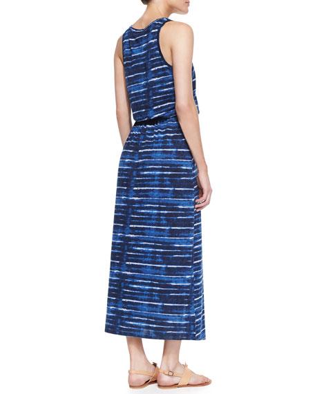 Dimzni Striped Drawstring Maxi Dress