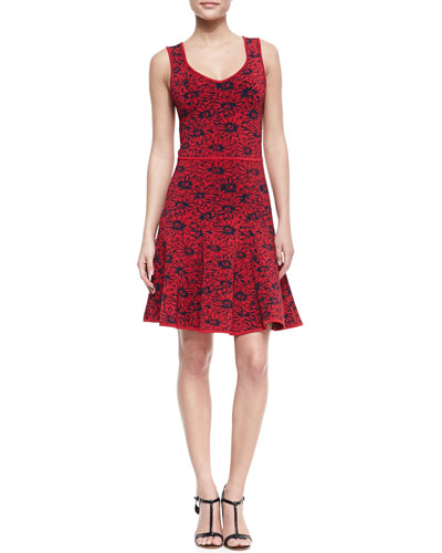 ZAC Zac Posen Wendy Sleeveless Fit-and-Flare Floral Dress