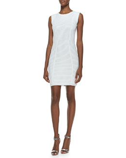 Rebecca Minkoff Grid Stitch Techno Sleeveless Dress