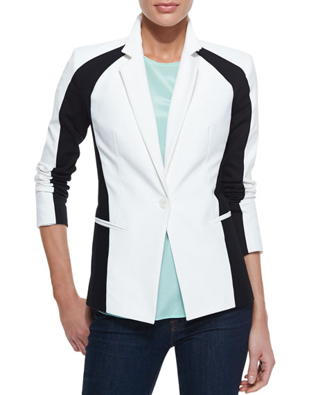 Colorblock One-Button Jacket