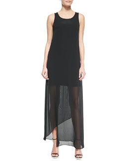 DKNY Faux-Wrap Maxi Tank Dress