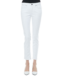Victoria Beckham Denim Slim Ankle Jeans, Clean White