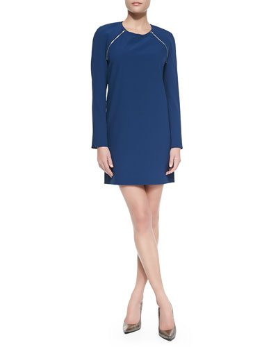 DKNY Convertible Zip-Sleeve Dress