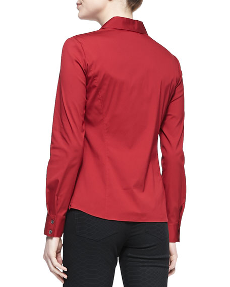 Katie Stretch-Poplin Blouse