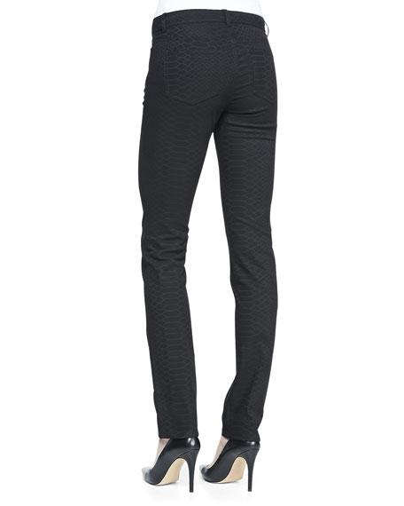 Animal-Print Skinny Jeans