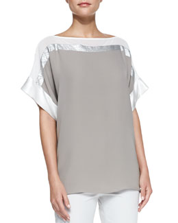 Lafayette 148 New York Ari Short-Sleeve Top