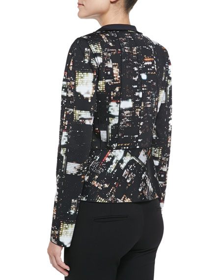 Amanda Cityscape Night-Print Jacket