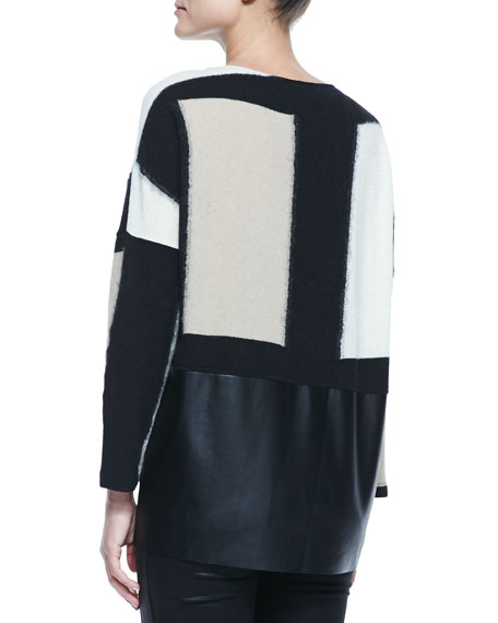 Neo Tech-Detail Jersey Oversized Top