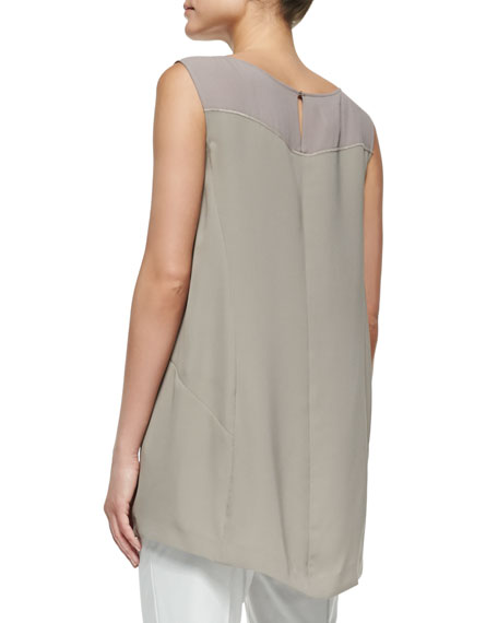 Landi Sleeveless Two-Tone Blouse
