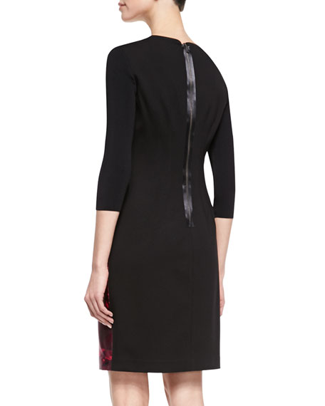 Ayana 3/4-Sleeve Jacquard Dress