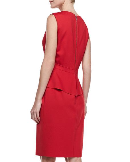 Coralie Crepe Peplum Dress