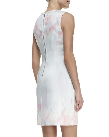 Holly Sleeveless Garden Party Impression Dress, Multicolor