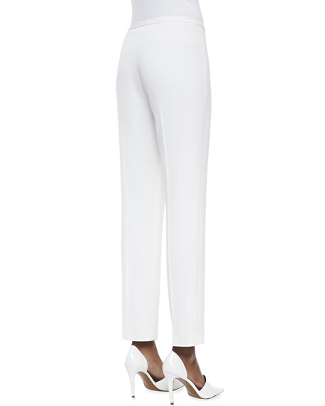 Jillian Slim Cropped Pants, White