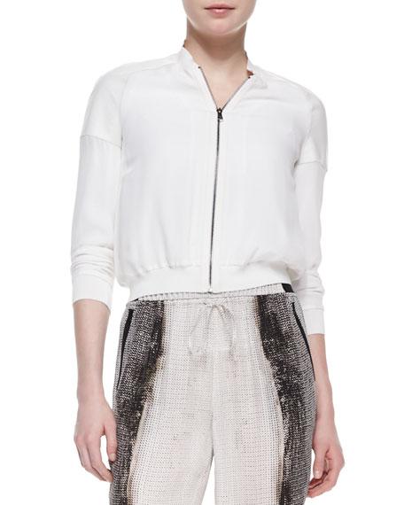 Sandie Bomber Silk Jacket