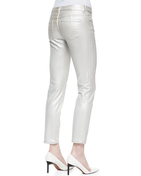 Diedre Coated Silver Jeans