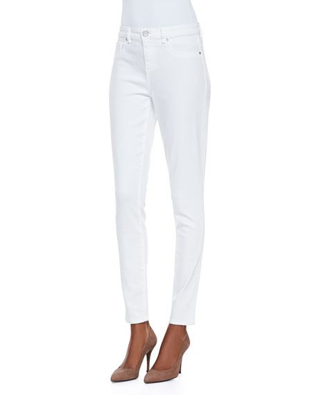 Selena Skinny Cropped Jeans, White