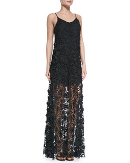 Erin by Erin Fetherston Spaghetti Strap Lace Maxi Dress