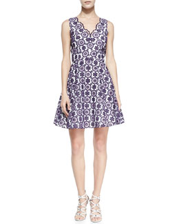 ERIN erin fetherston Sally Sleeveless Lace Cocktail Dress