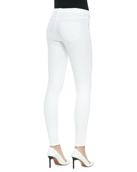 Selena White Skinny Cropped Jeans