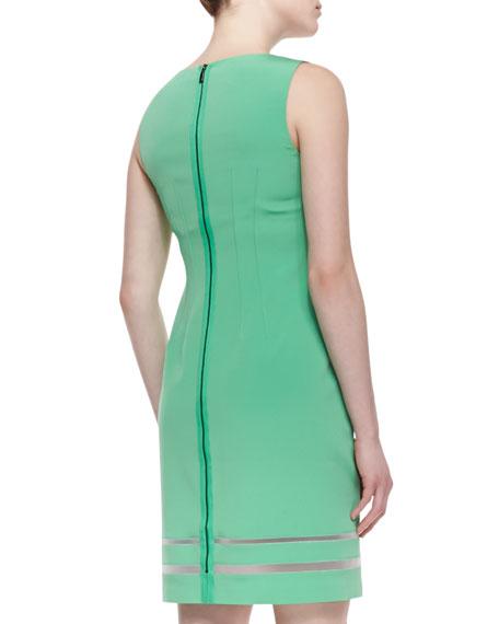 Tula Sleeveless Tropical-Print Sheath Dress