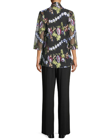Lori Sleeveless Tropical Print Blouse