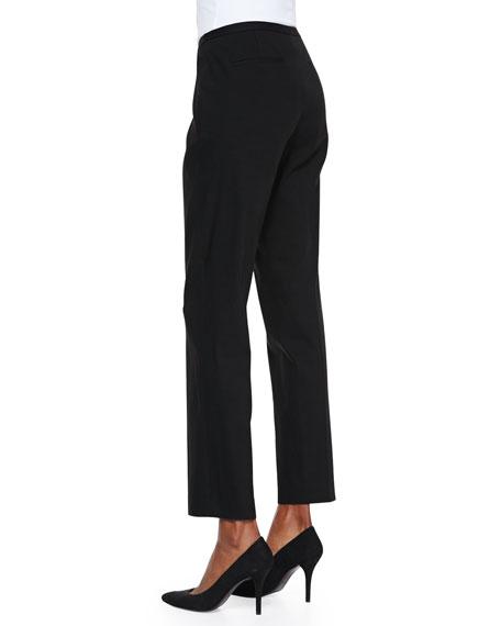 Jillian Slim Cropped Pants, Black