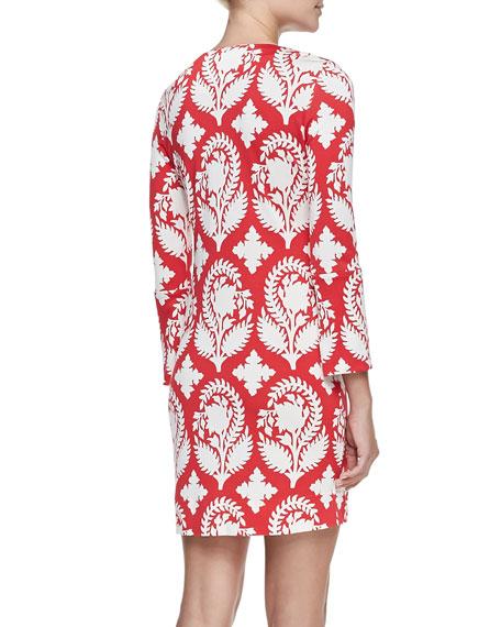 New Reina Two Printed Silk Dress