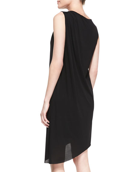 Rosa Sleeveless Mesh Shoulder Asymmetric Dress