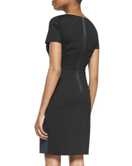 Clara V-Neck Colorblock Dress