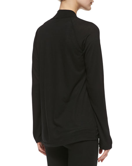Splendid Classics Very Light Jersey Drape Cardigan, Black