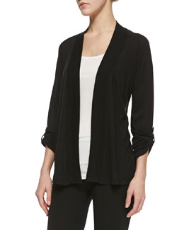 Splendid Splendid Classics Very Light Jersey Drape Cardigan, Black