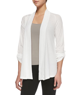 Splendid Splendid Classics Very Light Jersey Drape Cardigan, White