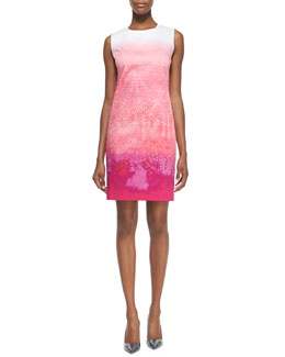 T Tahari Fran Raindrop Printed Sheath Dress