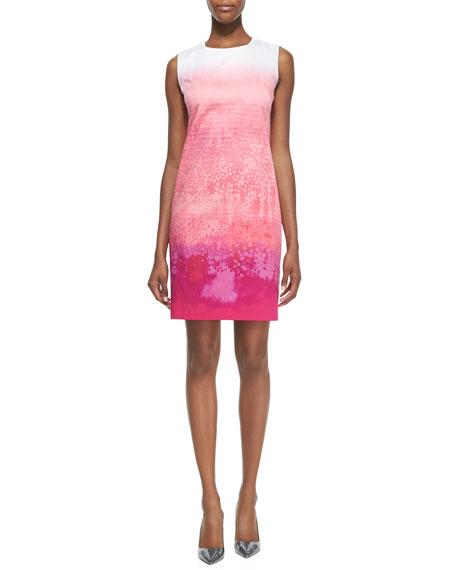 Fran Raindrop Printed Sheath Dress