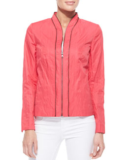 T Tahari Charity Zipper Jacket, Popsicle