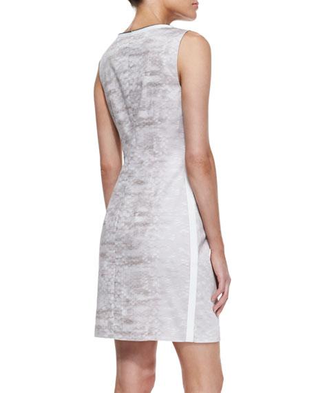 Mallie Snake-Track-Print Dress