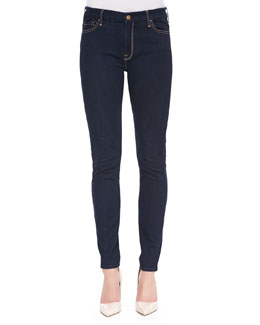 7 For All Mankind The High-Waist Skinny Jeans, Rinsed Indigo