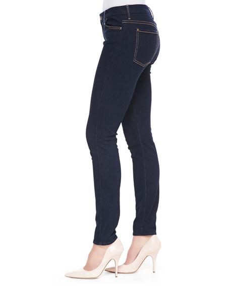 The High-Waist Skinny Jeans, Rinsed Indigo