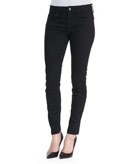 7 For All Mankind The High-Waist Skinny Jeans, Black