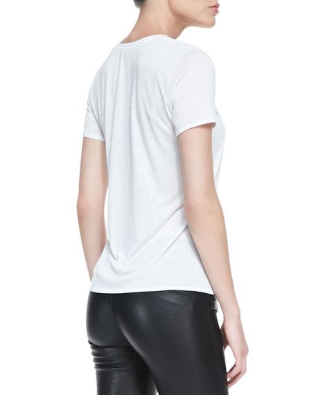 Kinetic Short-Sleeve Scoop-Neck Tee, Optic White