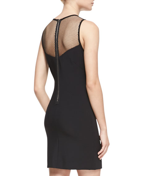 Franklin Fitted Mesh-Top Dress